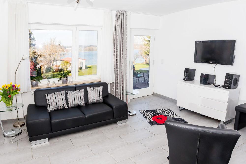 Haus Seegarten Reichenau - Wohnung Gnadesnee - Wohnzimmer
