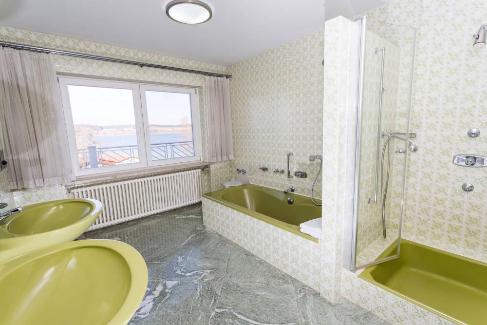 Haus Seegarten Reichenau - Wohnung Panorama - Badezimmer